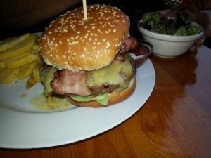 Baconburger im Marianna Berlin